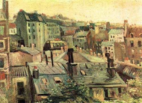 Van Gogh - Overlooking the rooftops of Paris