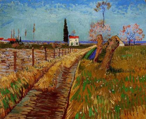 Van Gogh - Path Through a Field with Willows