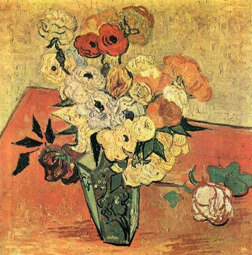 Van Gogh - Still Life with Japanese vase, roses and anemones