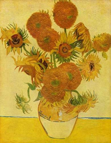 Van Gogh - Still life with sunflowers
