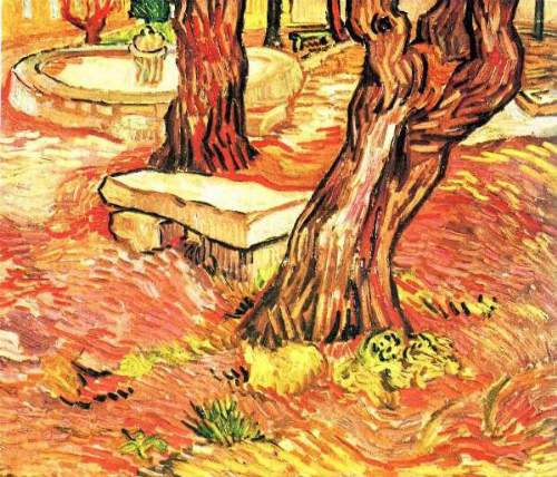 Van Gogh - Stone bench in the garden of the hospital of Saint-Paul