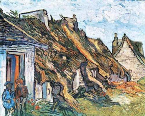 Van Gogh - Thatched hut in Chaponval
