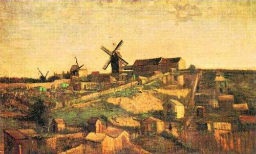 Van Gogh - The Montmartre hill with windmills
