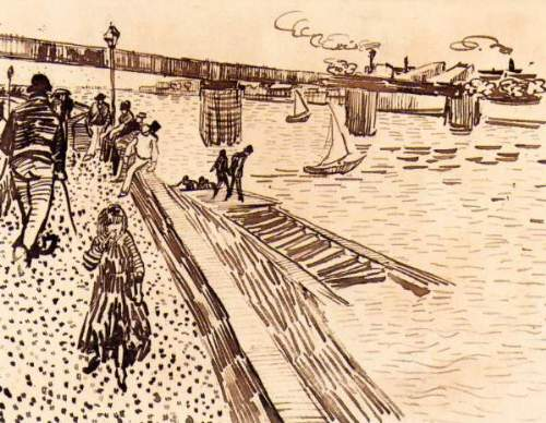 Van Gogh - The iron bridge at Trinquetaille on the Rhone