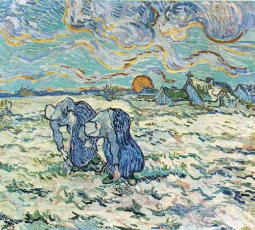 Van Gogh - Two digging a grave in the snow