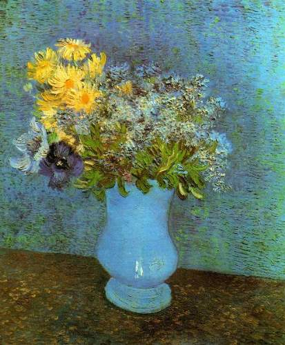 Van Gogh - Vase with Lilacs Daisies and Anemones