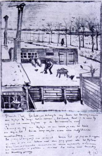 Van Gogh - View from the window of the studio
