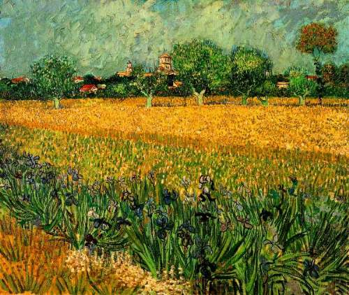 Van Gogh - View of Arles with Irises in the Foreground