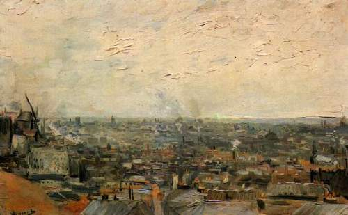 View of paris from Montmarte