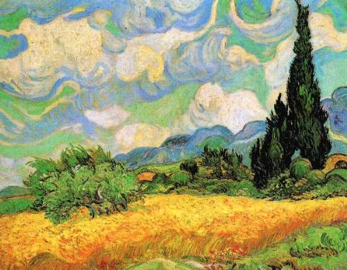 Wheat Field with Cypresses near Eygalieres