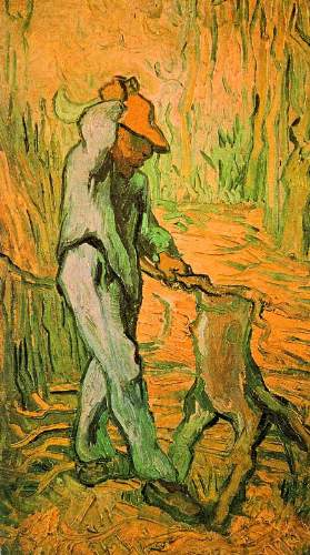 Van Gogh - Woodcutter (after Millet)