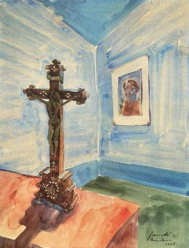 Walter Gramatte - Crucifix in the room
