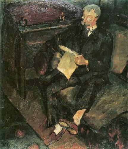 Walter Gramatte - Father reading