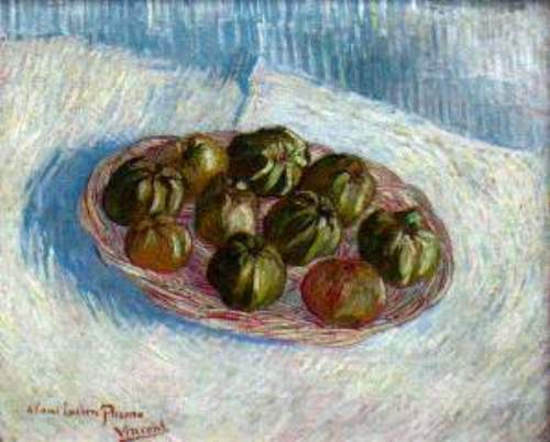 Basket of apples by Van gogh