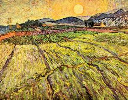 Landscape with plowed fields