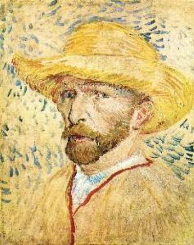 Self-Portait with straw hat